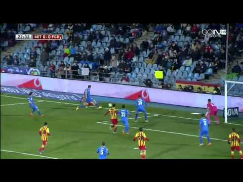Getafe - Barcelona Highlights HD 16.01.2014