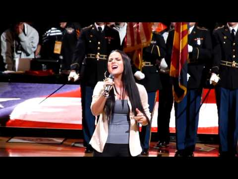 JoJo - Star Spangled Banner (US National Anthem) 2012 performance