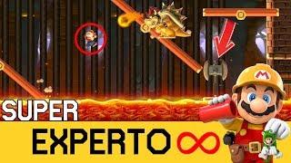 ACERCÁNDOSE, EL PELIGRO VIENE YA!! | SMM2 - SUPER EXPERTO INFINITO (NO SKIP) - ZetaSSJ