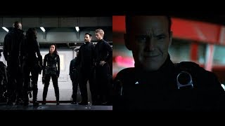 Coulson espere - Coulson, Bobbi, Hunter, Quake, May, Mack, Lincoln y Joey - Agents of SHIELD T.3
