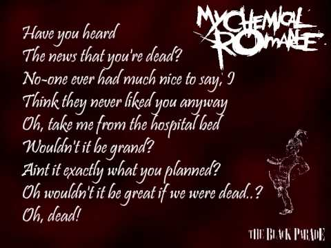 My Chemical Romance - The End and Dead! (lyrics)