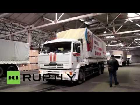 Ukraine: Russian aid convoy delivers 800 tonnes of cargo to Donetsk