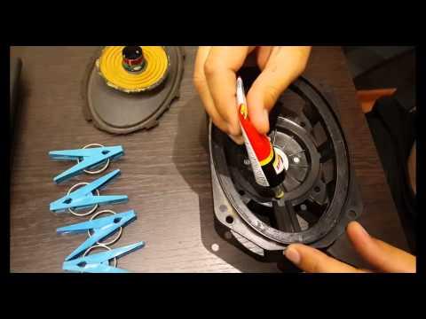 Динамик ремонт подвес своими руками
