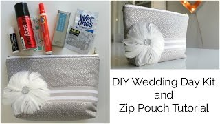 How to Make a Stand Up Zip Pouch