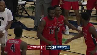 UNH Men's Basketball vs Stony Brook Highlights (2-16-19)
