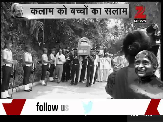 VVIPs, people pay last respects to Dr Kalam at his Delhi residence