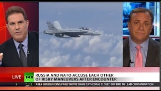 Watch: NATO fighter attacked by Russian plane?