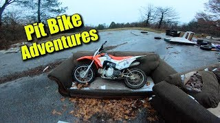 Pit Bike Couch Jump | Getting Stuck in MUD