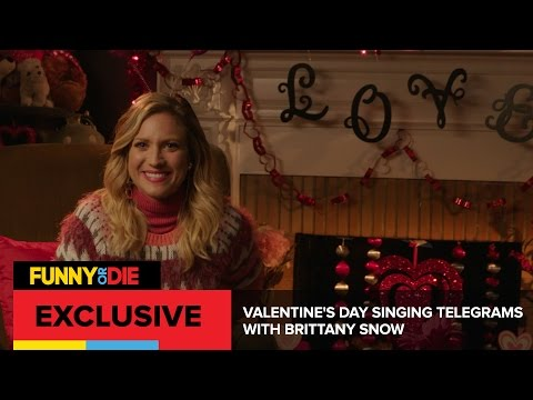 Valentine's Day Singing Telegrams with Brittany Snow