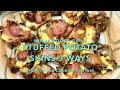 Stuffed Potato Skins 3 ways, Ninja Foodi Grill Cheekyricho Cooking Youtube Video Recipe ep.1,438