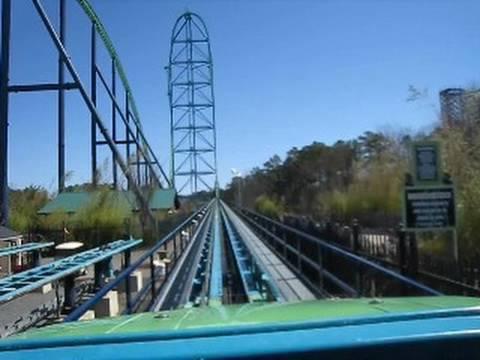 Kingda Ka Front Seat on-ride POV Six Flags Great Adventure