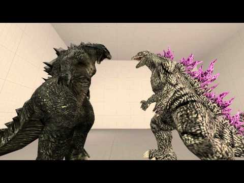 [sfm]godzilla And Godzilla 2014 video