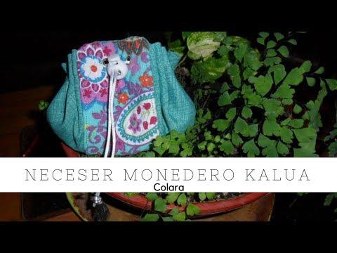 Neceser Monedero Kalua Paso a Paso // Neceser Bag Kalua Step by Step 2018 + Molde Gratis PDF!