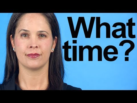 """How to Pronounce """"What Time?"""" – American English"""