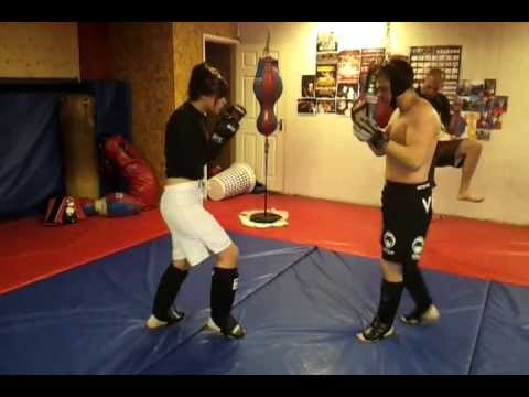 MMA Sparring Female Fighter at Pitbull MMA Image 1