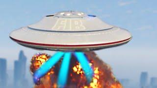 UFO ABDUCTION & DESTRUCTION MOD! (GTA 5 Mod Funny Moments)