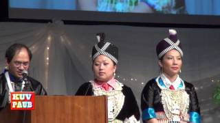 Nengwa Vang, Chair of MN Hmong New Year 2014, Welcome Speech & Intro. NY Committee