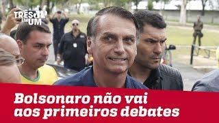 Jair Bolsonaro não vai aos primeiros debates do 2º turno