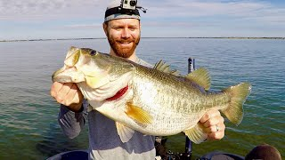 100 Pounds of Giant Bass in a Day!!! (Every Fish Weighed) Try to Add Them up!