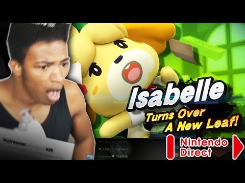 """ETIKA REACTS TO """"ANIMAL CROSSING SWITCH"""" + ISABELLE IN SMASH ULTIMATE ( NINTENDO DIRECT 9.13.2018 )"""