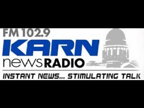 Griffin talks with Bob Steel on KARN-FM about President's Speech