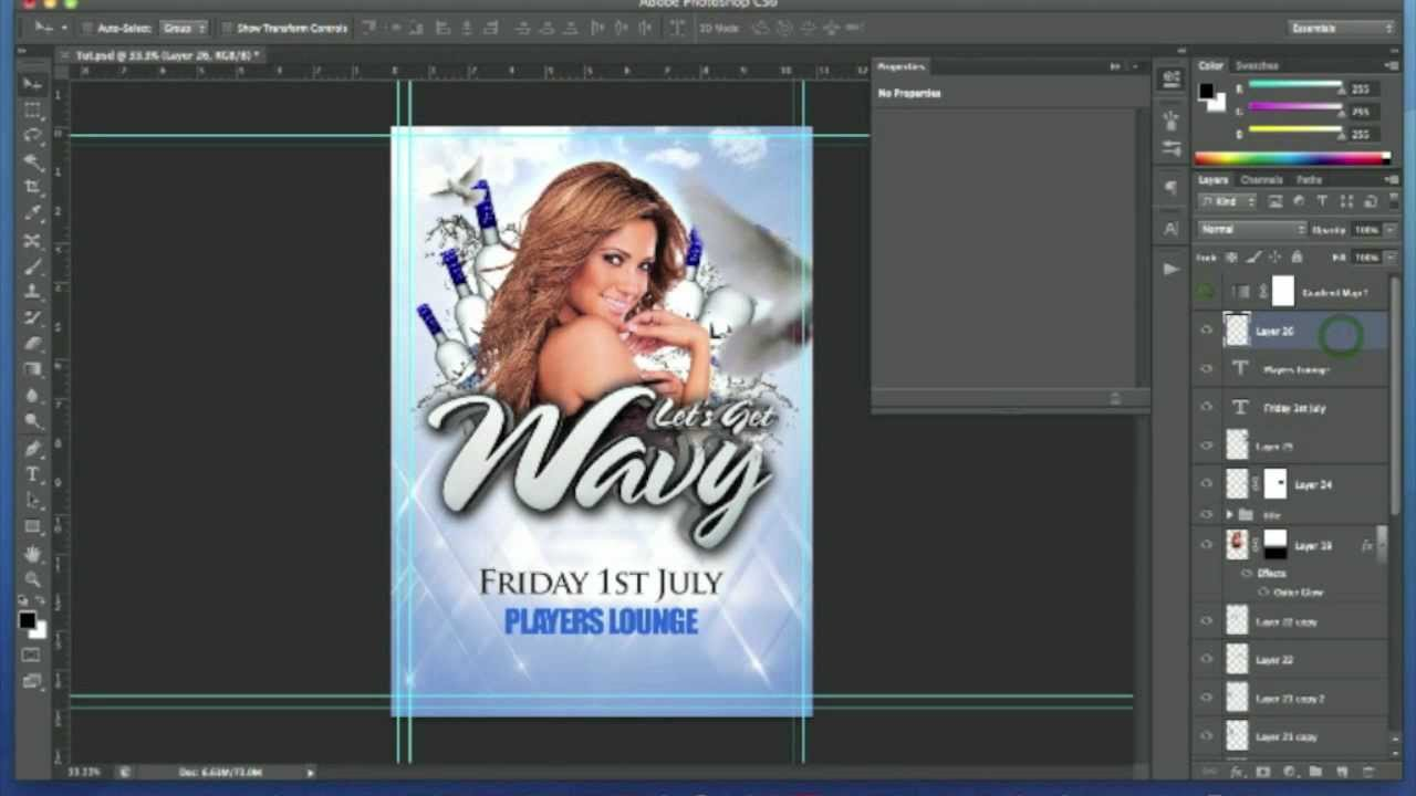 Photoshop Tutorial - Club Event Flyer Design #2 - YouTube