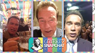 ARNOLD SCHWARZENEGGER September 2015 Snapchat Story | feat. Oktoberfest in Germany