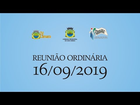 REUNIAO ORDINARIA 16/09/2019