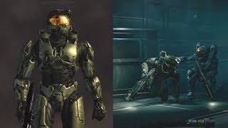 Halo 1, 2 and 3 cutscenes next to Halo 4 and 5 cutscenes