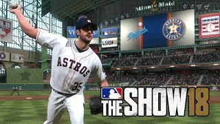 MLB The Show 18 - Los Angeles Dodgers vs Houston Astros - Full Game (MLB 18 The Show Gameplay PS4)