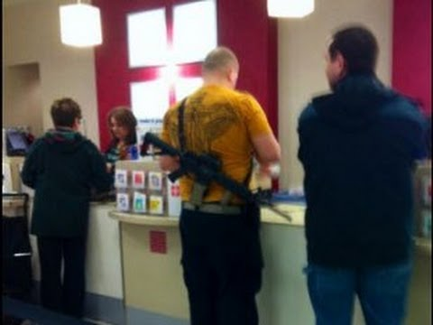 Armed Man Shops at JCPenney with Rifle & Glock