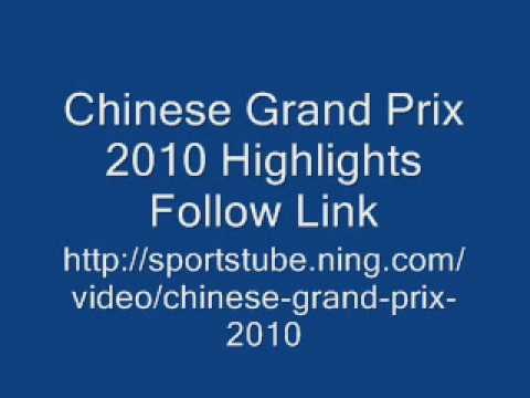 Chinese Grand Prix 2010 Jenson Button Wins LINK ONLY