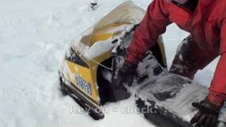 1971 Ski doo elan cold snowy start minus 31 with the windchill