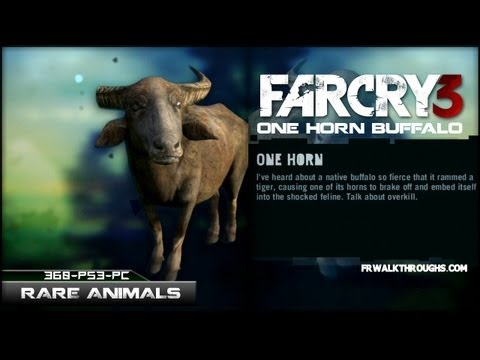 Far Cry 3 Hunting Rare Animals - One Horn Buffalo