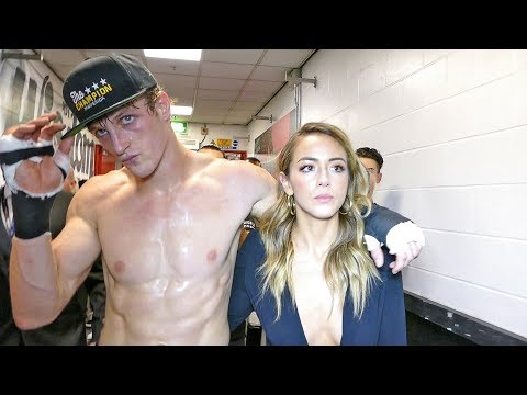 Logan Paul & Chloe Bennet After FIGHT vs KSI
