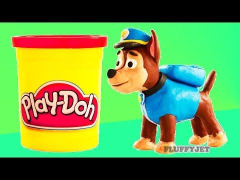 Paw Patrol Chase Spiderman Play Doh Stop Motion video Marvel Superhero toys kids playtime