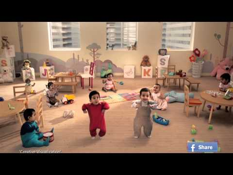 Kit Kat Dancing Babies 2013 New Ad