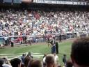 Old Timer's Day 2008 Yankee Stadium - Arlene Howard (for Elston).