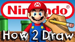 How To Draw Mario From Super Mario Bros | Drawing & Coloring & Learning