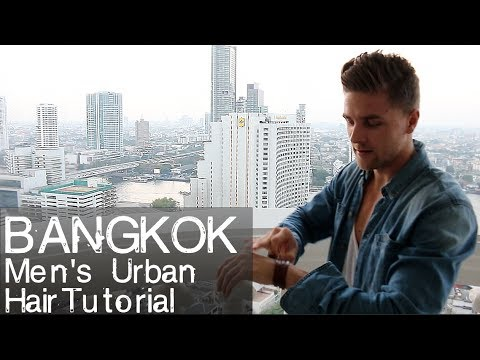 Bangkok Urban hair styling tutorial Cocktail of Silver Fox and Gold Digger Skyline