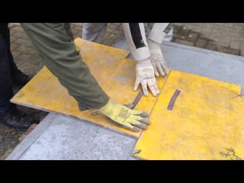 STYLE BETON®: Stempelbeton Musterplatte Herstellen