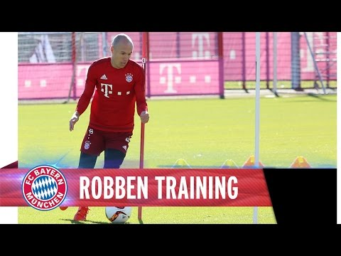 Arjen Robben working hard on his comeback