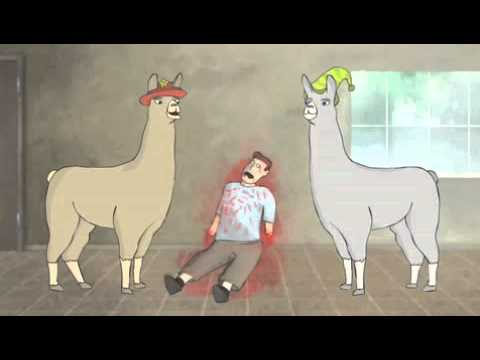 Llamas with Hats Backwards
