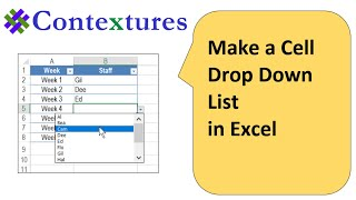 How to Make a Cell Drop Down List in Excel 2010
