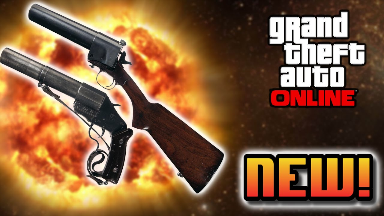 Gta 5 New Guns Gta 5 Online Leaked Flare