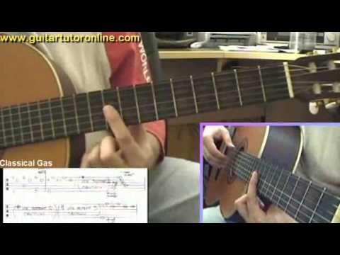 How to play Classical Gas by MASON WILLIAMS on Nylon Classical Guitar (Part 4/4)