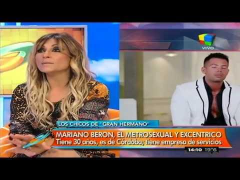 Mariano Berón, excéntrico y metrosexual