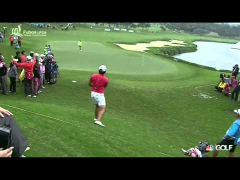 Yani Tseng Chips Close on 18th from Awkward Lie in Rough Thursday in Taiwan