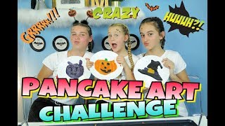 PANCAKE ART CHALLENGE!!💀Emoji Halloween Edition!🎃Mavie Noelle