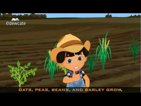 Edewcate english rhymes – Oats peas beans and barley grow